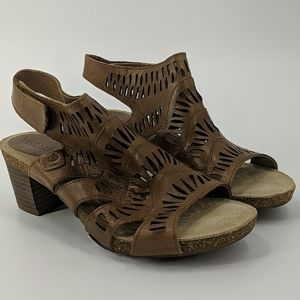 NWT JOSEF SEIBEL Strappy Leather Heeled Sandals